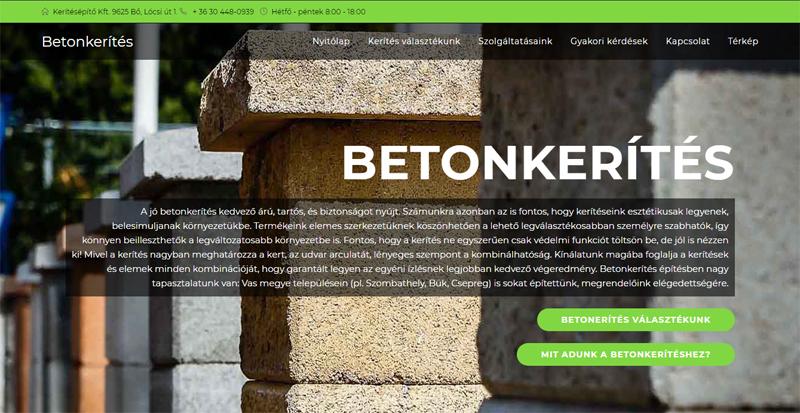 Sikeres keresőoptimalizálás: első a betonkeritesek.hu